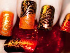 Thanksgiving nails.