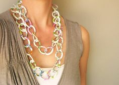 Statement Necklace  Funky Jewelry Pop Art by SYMBOLICinteraction, $22.00