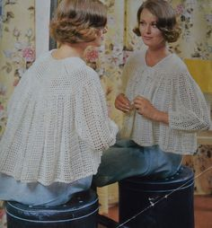 Knitting Pattern For Shawl Bed Jacket : 1000+ images about La LISEUSE on Pinterest Vintage knitting, Jackets and Beds