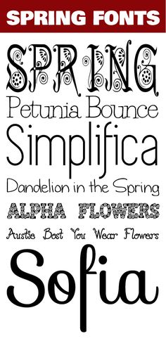 7 betűtípus tavaszra Spring Font, Computer Programming, Calligraphy Fonts, Cool Fonts, Affair, Things That Bounce, Cricut, Typography, Fun