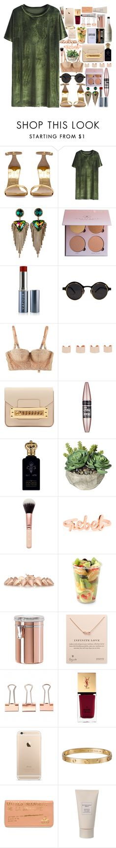 """""""WinterDress"""" by dzchocolatess ❤ liked on Polyvore featuring Zara, DANNIJO, Vapour Organic Beauty, STELLA McCARTNEY, Maison Margiela, Sophie Hulme, Maybelline, Clive Christian, Eddie Borgo and Aroma"""