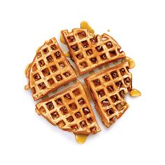 Cinnamon Raisin Waffles 8x8 Print by cakeoversteak on Etsy