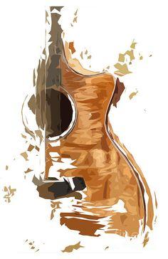Guitar Drawing, Guitar Painting, Guitar Art, Music Artwork, Art Music, Indie Music, Soul Music, Art Graphique, Watercolor Art