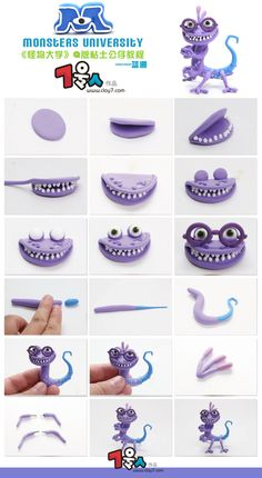 Randall monsters inc polymer clay photo tutorial