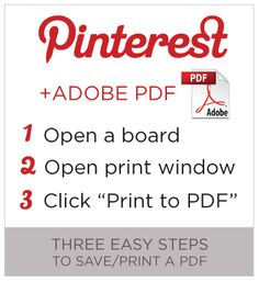 Printing and saving Pinterest boards