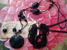 Black Jewelry Set CLEARANCE SALE by MsMuffinTiggywinkles on Etsy, $8.00