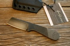 EDC Mini Cleaver Upcycled File Neck Knife w/ Kydex sheath by JaredKramerStudios on Etsy