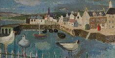View Broughty Ferry harbour By Alberto Morrocco; Access more artwork lots and estimated & realized auction prices on MutualArt. Seascape Paintings, Dundee, Impressionism, Seaside, Coastal, Beautiful Pictures, Auction, Scene, Abstract