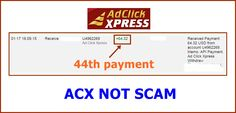WOWWW Got my 44th payment from AdClickXpress .. :)  Date: 01:17 18.09.15 To Pay Processor Account = U9489027 Amount: 64.32 Currency: USD Batch: 102352604 API Payment. Ad Click Xpress Withdraw 4406187-178321. Payment ID: 178321    Here is link... Join.. http://www.adclickxpress.com/?r=m5hshz29jwr&p=mx