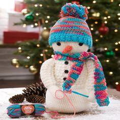 Häkeln für Weihnachten Schneemann