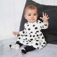 Toddler Baby Girl 2Pcs Outfits T-Shirt Tops Cat Dress+Leggings Pants Set Clothes