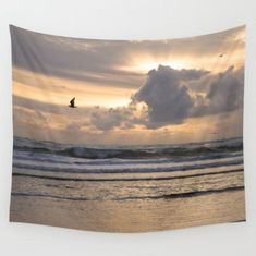 Heavens Rejoice ~ Large Beach Decor ~ Beach Tapestry ~ Oversized Ocean Decor ~ Ocean Wall Tapestry ~ Ocean Tapestry ~ Sunset Tapestry ~ Pale Purple Tapestry by #NancyJsLifestyle