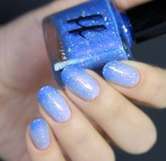 Love this blue thermal nail polish by Femme Fatale