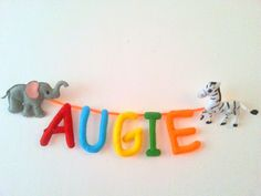 Safari Baby Shower Banner, Elephant and Zebra Name Banner, Colorful Felt Letters Zoo Party Themes, Jungle Party Decorations, Jungle Theme Parties, Safari Party, Safari Theme, Baby Shower Decorations, Party Ideas, Gift Ideas, Felt Garland
