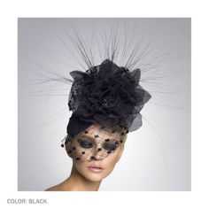 Annabelle Cocktail Hat by Arturo Rios (Black)