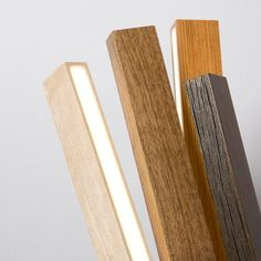 reclaimed wood LED light. let's make one of these for the office!