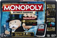 Buy Monopoly: Ultimate Banking Edition at Mighty Ape NZ. Introducing a modern banking version of the Monopoly game: the Ultimate Banking Edition. In this edition, Monopoly money is no more! The Monopoly Ult. Monopoly Money, Monopoly Board, Monopoly Game, Fire Pit Table Set, Family Board Games, Game Guide, Bank Card, Games For Kids, Sassy