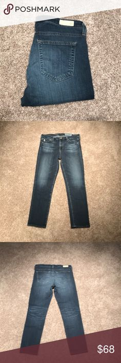 AG. 'The Prima Crop' mid-rise cigarette denim ****SINGLE-ITEM PRICE IS FIRM**** ▪️All items in my closet are authentic  ▪️Ask questions, inspect photos, and fully understand condition prior to purchase. ANY flaws/ wear (&perfections) are considered in price as listed.   ‼️LOVE BUNDLES‼️ Add your 'likes' to 'bundle' I make private offers 😉 💃🏼📦  *'The Prima Crop' mid-rise cigarette  *28, true to size *medium blue wash, minimum fading detail *Worn, but good overall- a few small snags in…