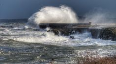 #stormy #breakwater #holyhead #anglesey #sea #waves