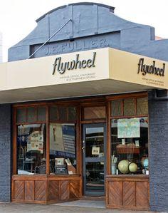 Vintage store front of Flywheel