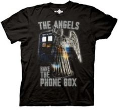 Doctor Who Glowing Angels Have The Phone Box Black Mens T-shirt (Adult Large) Dr Who Toys, Tv Quotes, Branded T Shirts, Doctor Who, Tshirt Colors, Nerdy, Fashion Brands, Movie Tv, Mens Tops