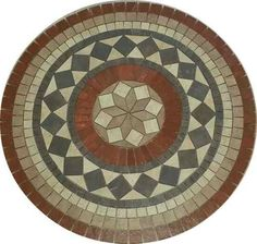roseton ceramico geometrico (guardas mallas bachas) Mosaic Outdoor Table, Mosaic Tile Table, Mosaic Pots, Mosaic Diy, Mosaic Crafts, Mosaic Projects, Mosaic Glass, Mandala Pattern, Mosaic Patterns