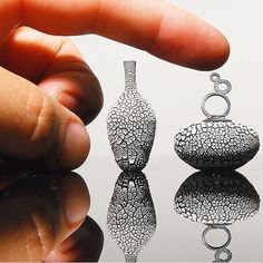 Tiny Miniature Pottery Vases, Teapots and Bowls. See more art and information about Jon Almeda, Press the Image.