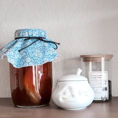 "Soooooo, I am brewing my own kombucha 😃 I love kombucha and aparently it's a pretty healthy thing to drink. I have been wanting to try making my own for quite some time now and finally took the plunge. I got my scoby yesterday and should be getting another one tomorrow. So I'll be starting up a second batch soon. Hope it's going to turn out well. For now I am just fasinated by my beautiful  weird little jar of ""living tea""  Oh and I have already soooo many ideas for flavouring during the… Some Times, Kombucha, I Got This, Brewing, Two By Two, Weird, Jar, Drink, Healthy"