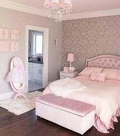 56 the basic facts of bedroom ideas for teen girls dream rooms teenagers girly 20 - Zimmergestaltung - Bedroom Decor Pink Bedroom Design, Girl Bedroom Designs, Gold Bedroom, Master Bedroom, Bedroom Girls, Light Bedroom, Room Decor Bedroom Rose Gold, Teen Bedrooms, Bedroom Small