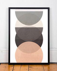 Minimalist art, Geometric print, Circles print, Nordic design, Modern wall art, Minimalist print, Muted colors art, Abstract shape art