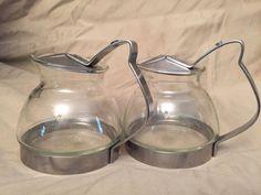 Set Of 2 ECKO Teakoe Teamaker PYREX Miniature Teapot 2 Cup Retro Stainless