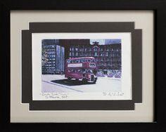 Double Deck Tour Bus - Your Local Art.com