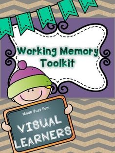 Working Memory, Step By Step with Explicit Teaching! Memory Strategies, Special Education Classroom, Education Center, Working Memory, Executive Functioning, Teaching Resources, Classroom Resources, Teaching Ideas, Classroom Ideas