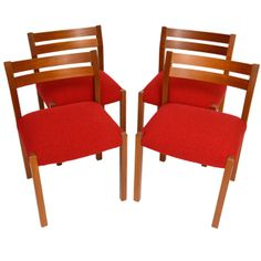 Set of Four Niels Moller Teak Dining Chairs | From a unique collection of antique and modern dining room chairs at http://www.1stdibs.com/furniture/seating/dining-room-chairs/