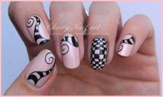 nail art illusion d'optique arabesques damier defi youtube Arabesque, Love Nails, How To Do Nails, Cherry Nail Art, Damier, Illusion Art, Stamping Plates, Nail Art Galleries, Nail Art Designs