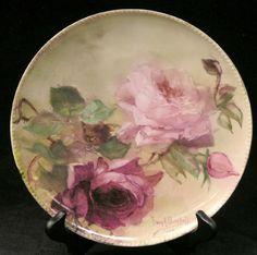 6068: Franz H. Bischoff decorated plate