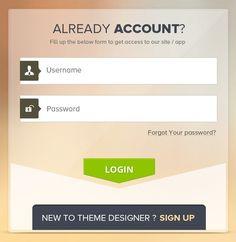 Clean Modern Mobile Login Screen App PSD | Other PSD