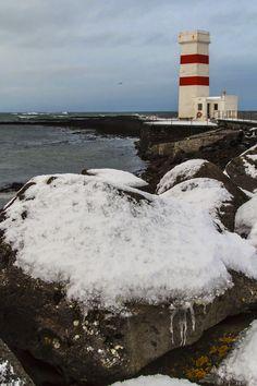 Lighthouse at Reykjanes Peninsula Iceland