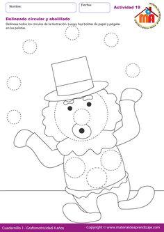 Hoja de trabajo imprimible de delineado y coloreado para niños de ...