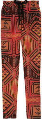 ShopStyle: Sandro Paprika printed crepe tapered pants