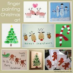 Finger print Christmas art