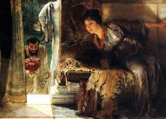 Sir Lawrence Alma-Tadema  Welcome Footsteps, 1883