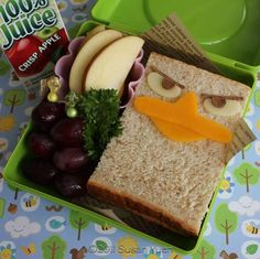 Perry the Platypus sandwich! Laura, your kids would love this!