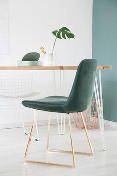 Velvet is helemaal de trend. Niet gek, als je deze mooie stoel ziet! - Miss Jettle