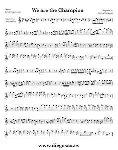 Partitura de We are the Champions para Flauta Travesera, flauta dulce y flauta de pico Queen Sheet Music Flute and Recorder Music Score We are the Champions Mais Partituras Trombone, Trombone Sheet Music, Alto Sax Sheet Music, Viola Sheet Music, Trumpet Sheet Music, Saxophone Music, Recorder Music, Piano Sheet Music, Music Score