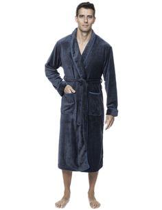 Men's Premium Coral Ffleece Plush Spa/Bath Robe