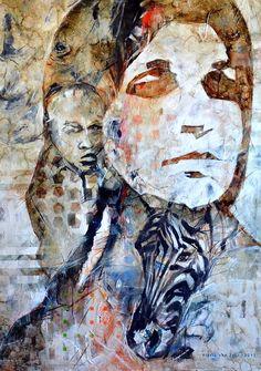 South Africa artist Floris Van Zyl | Migration 1000mm wide x 1200mm high