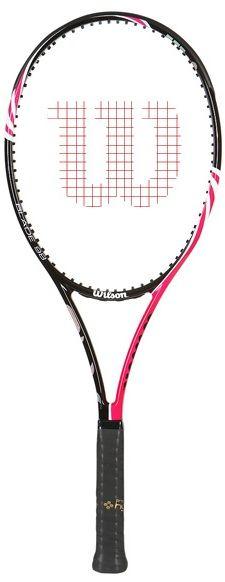 The BLX Blade 98 pink updates the Kblade 98 with new technology and a new look. Using basalt, a natural volcanic rock, helps with vibration resistance for a more stable feel, according to Wilson. Suited in rich gold and black coloring, this new Blade 98 pink provides an extremely solid feel and generates some nice power. Wilson Tennis Racquets, Tennis Racket, Tennis Shop, Pro Version, Volcanic Rock, Blade, Coloring, Technology, Nice