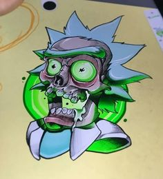 Rick Morty and Fans Rick And Morty Drawing, Rick And Morty Tattoo, Dark Art Drawings, Cool Drawings, Skull Drawings, Rick I Morty, Rick And Morty Poster, Ricky And Morty, Dope Cartoons