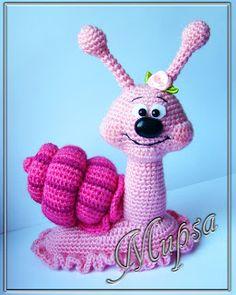 crochet snailФиолетовая утка: 1. Вязаные игрушки